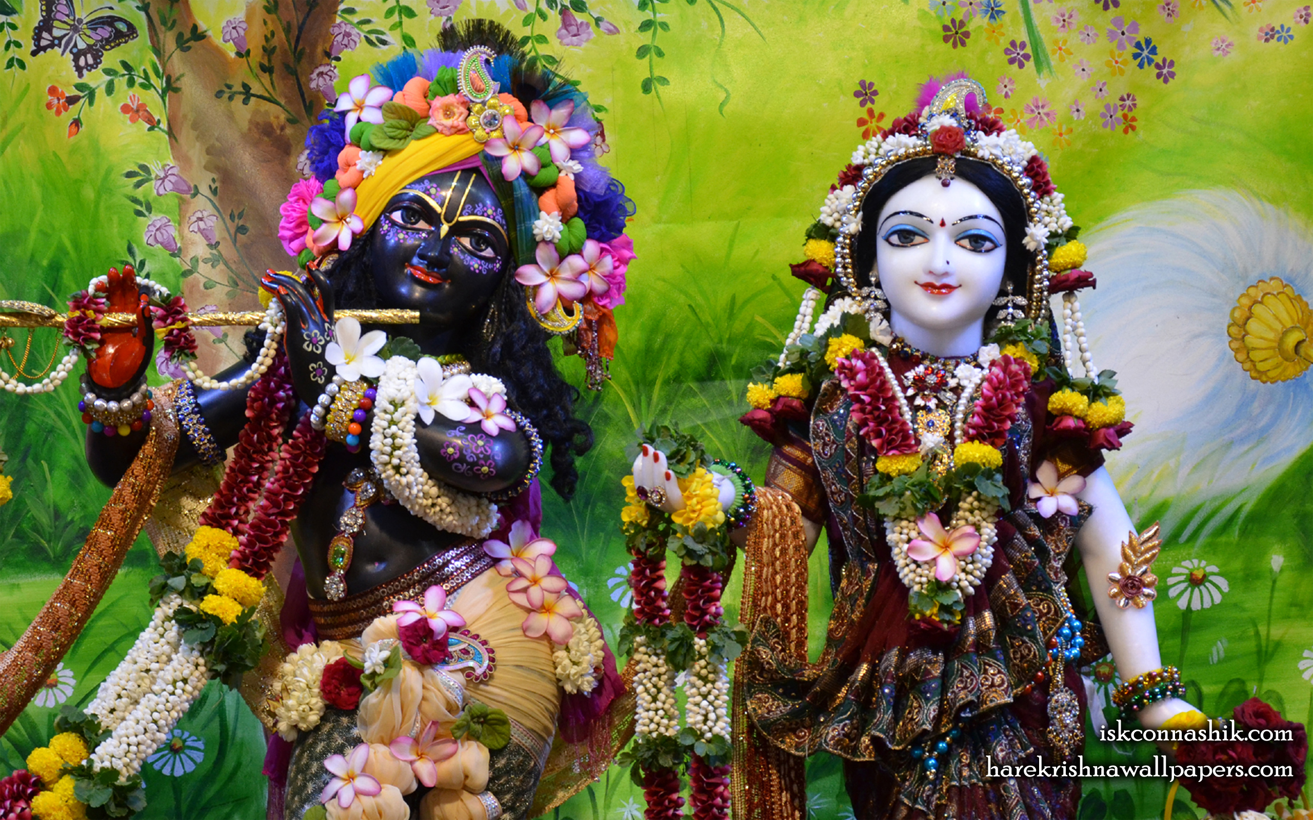 Sri Sri Radha Madan Gopal Close up Wallpaper (017) Size 2560x1600 Download