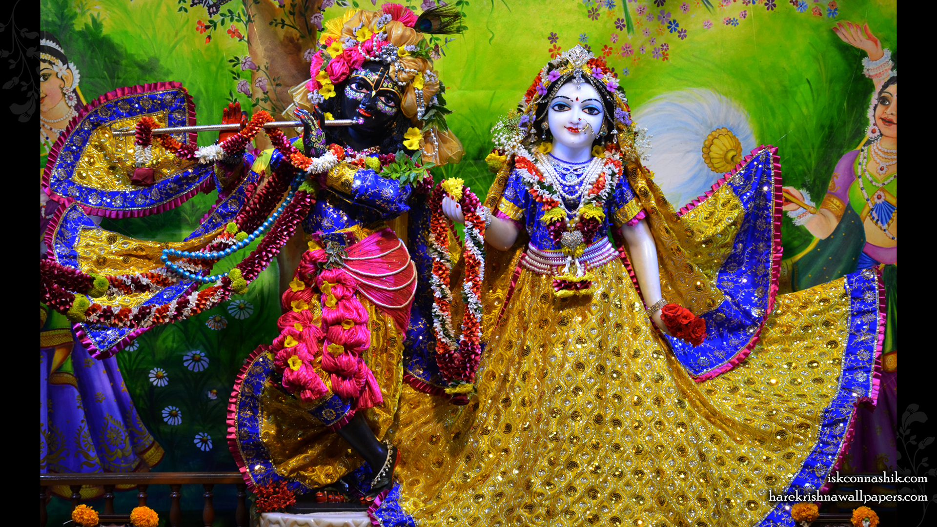 Sri Sri Radha Madan Gopal Wallpaper (018) Size 1920x1080 Download