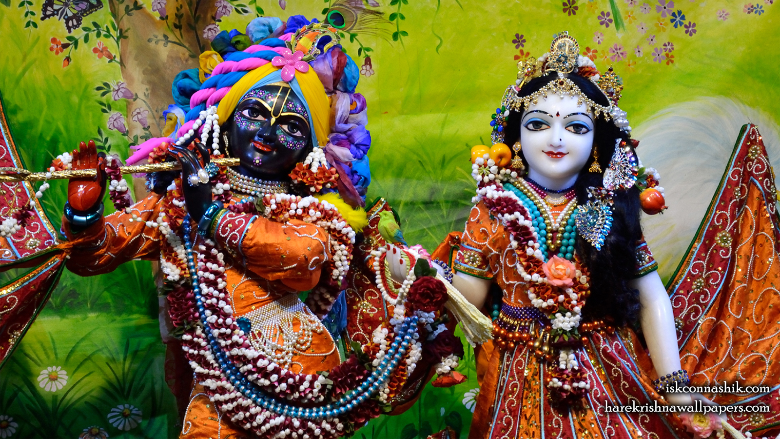 Sri Sri Radha Madan Gopal Close up Wallpaper (018) Size 1600x900 Download