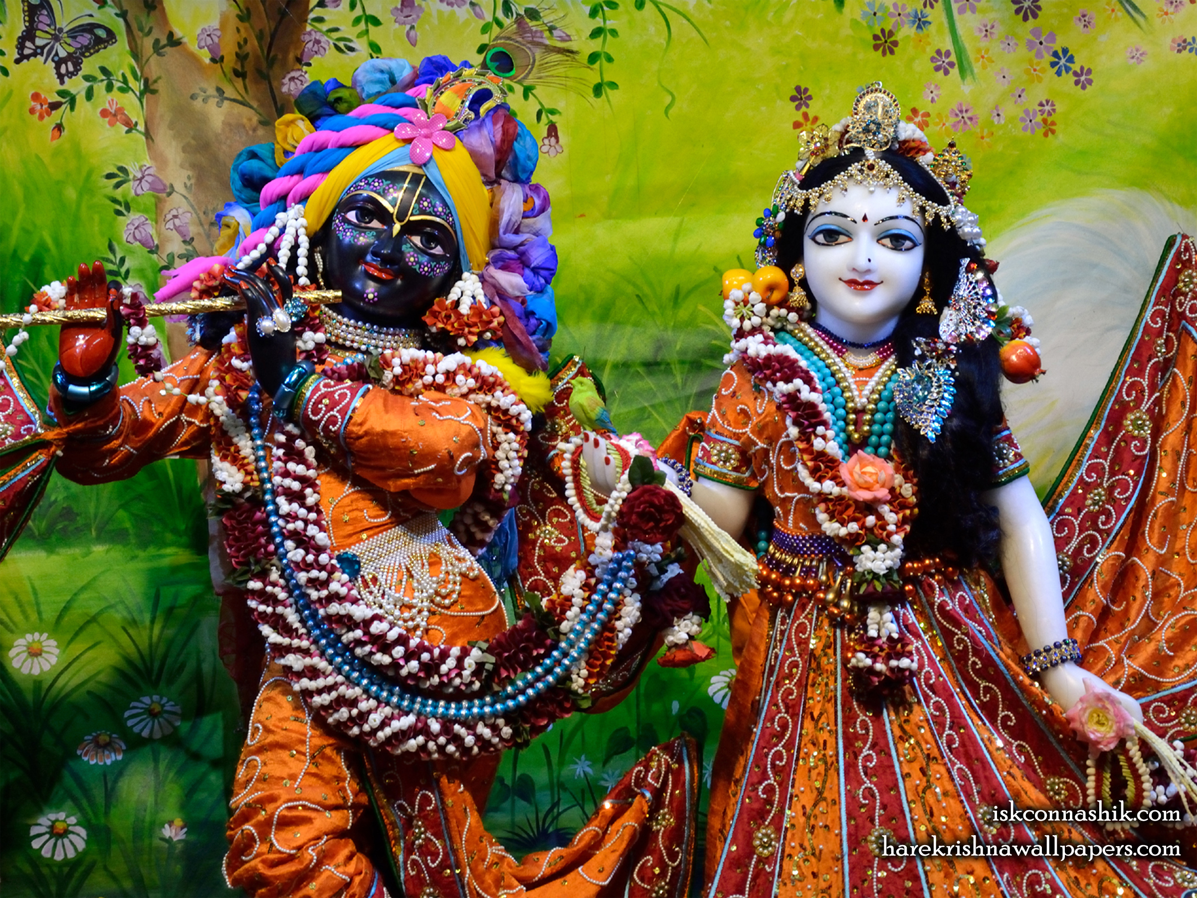 Sri Sri Radha Madan Gopal Close up Wallpaper (018) Size 2400x1800 Download