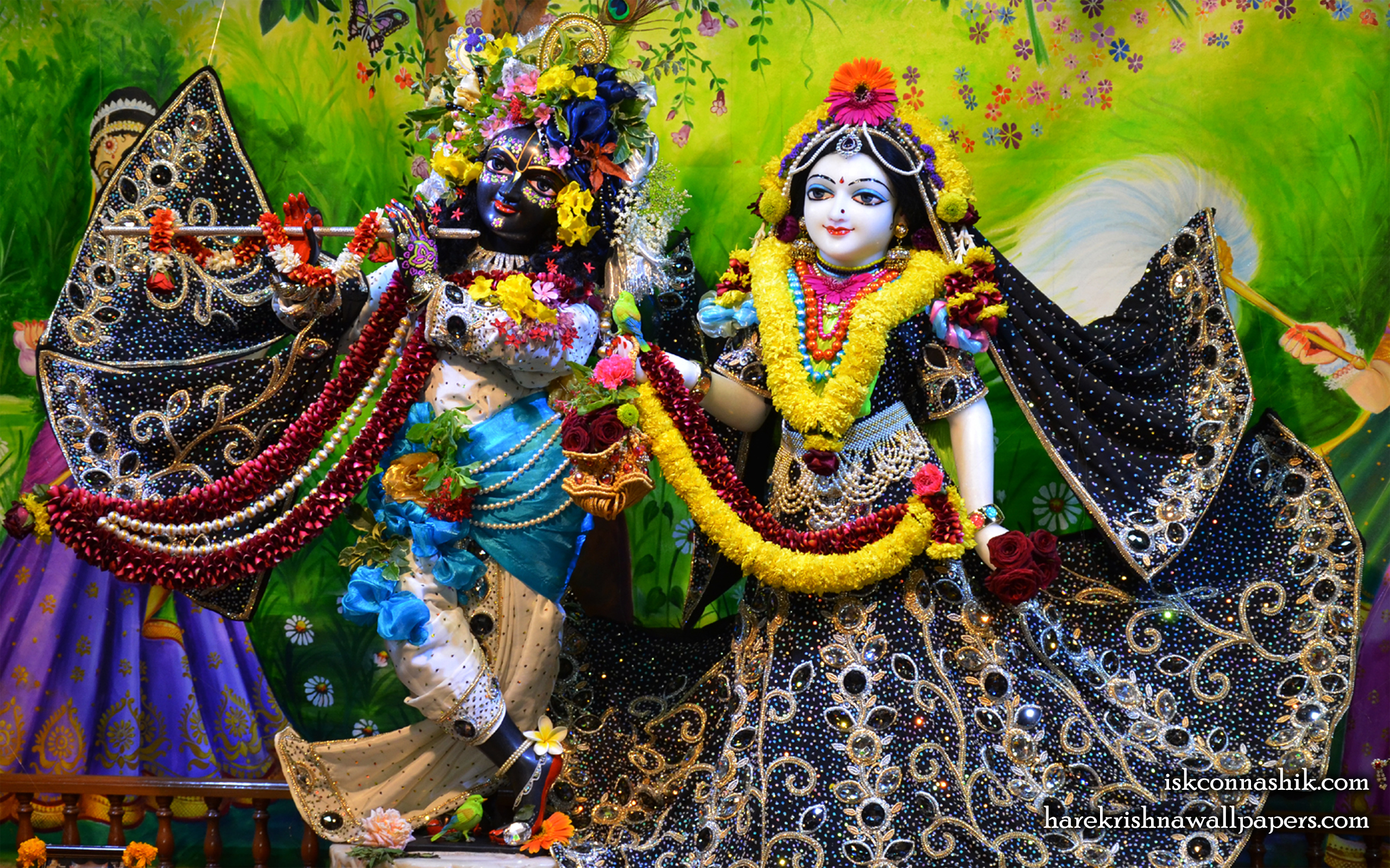 Sri Sri Radha Madan Gopal Wallpaper (019) Size 2560x1600 Download