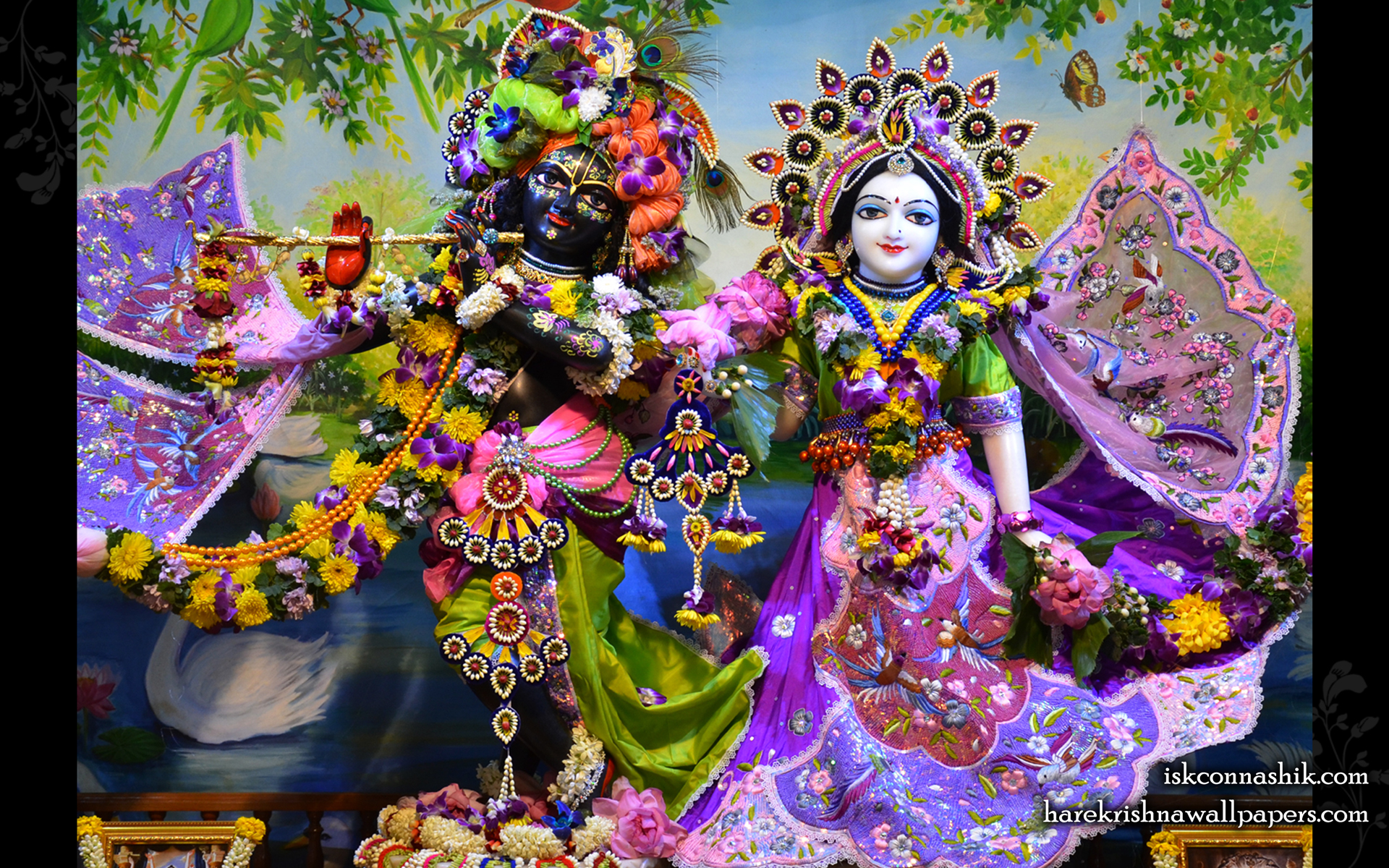Sri Sri Radha Madan Gopal Wallpaper (021) Size 1920x1200 Download