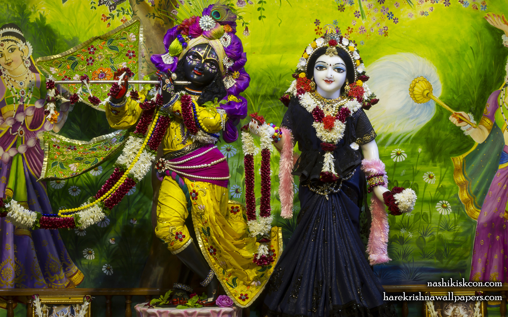 Sri Sri Radha Madan Gopal Wallpaper (023) Size 1680x1050 Download