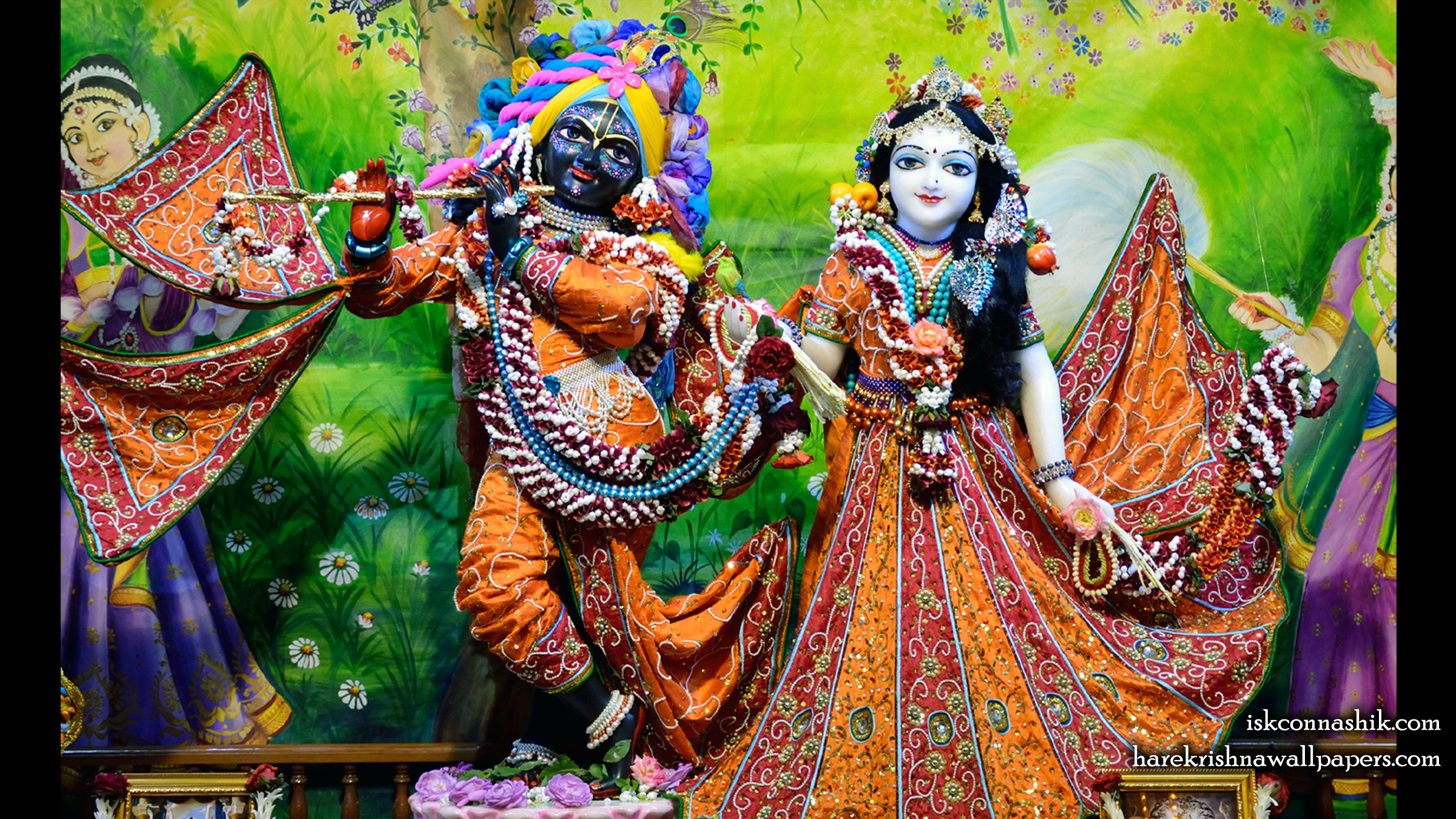 Sri Sri Radha Madan Gopal Wallpaper (024) Size 2400x1350 Download
