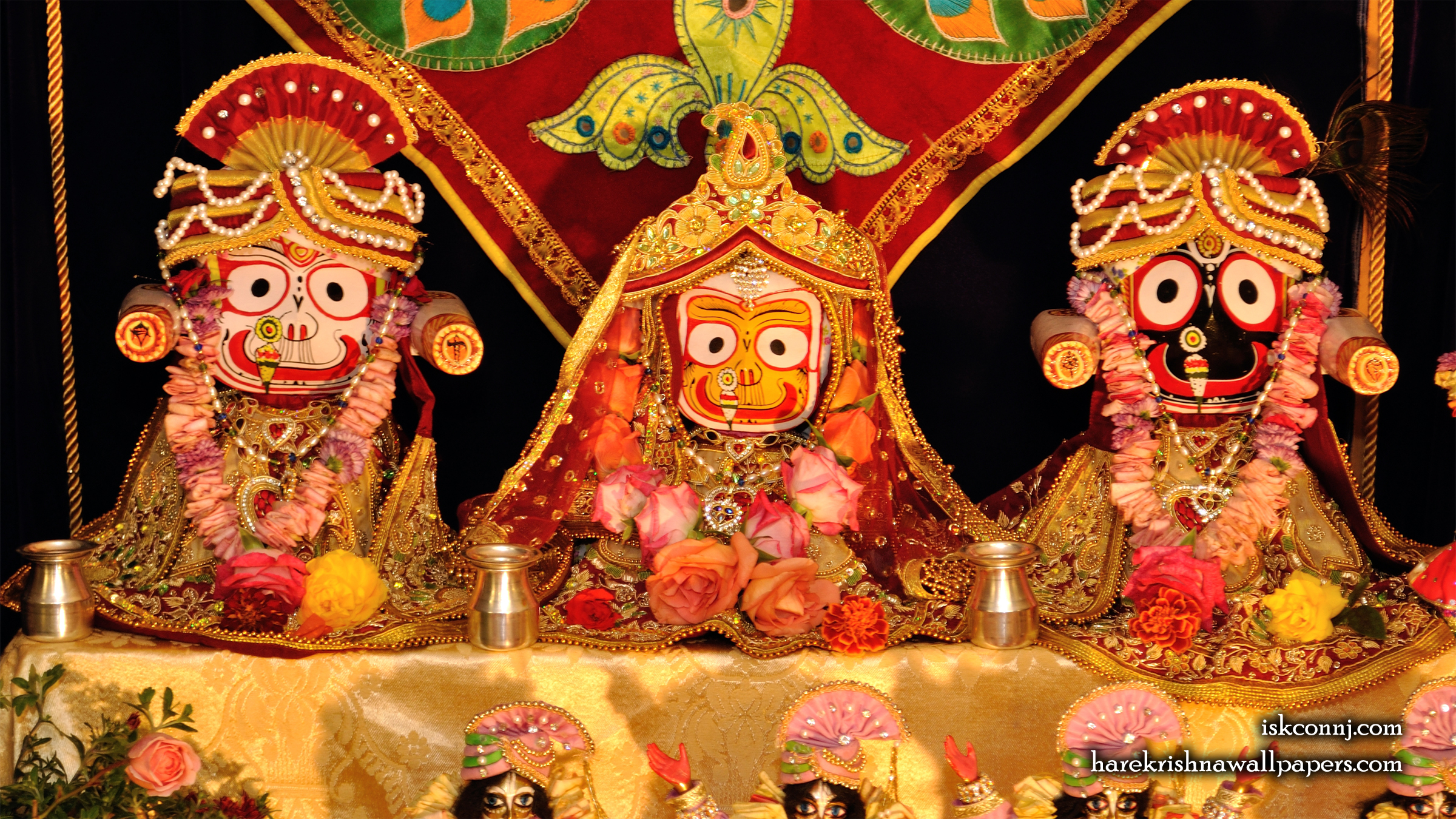 Jagannath Baladeva Subhadra Wallpaper (001) Size 2400x1350 Download