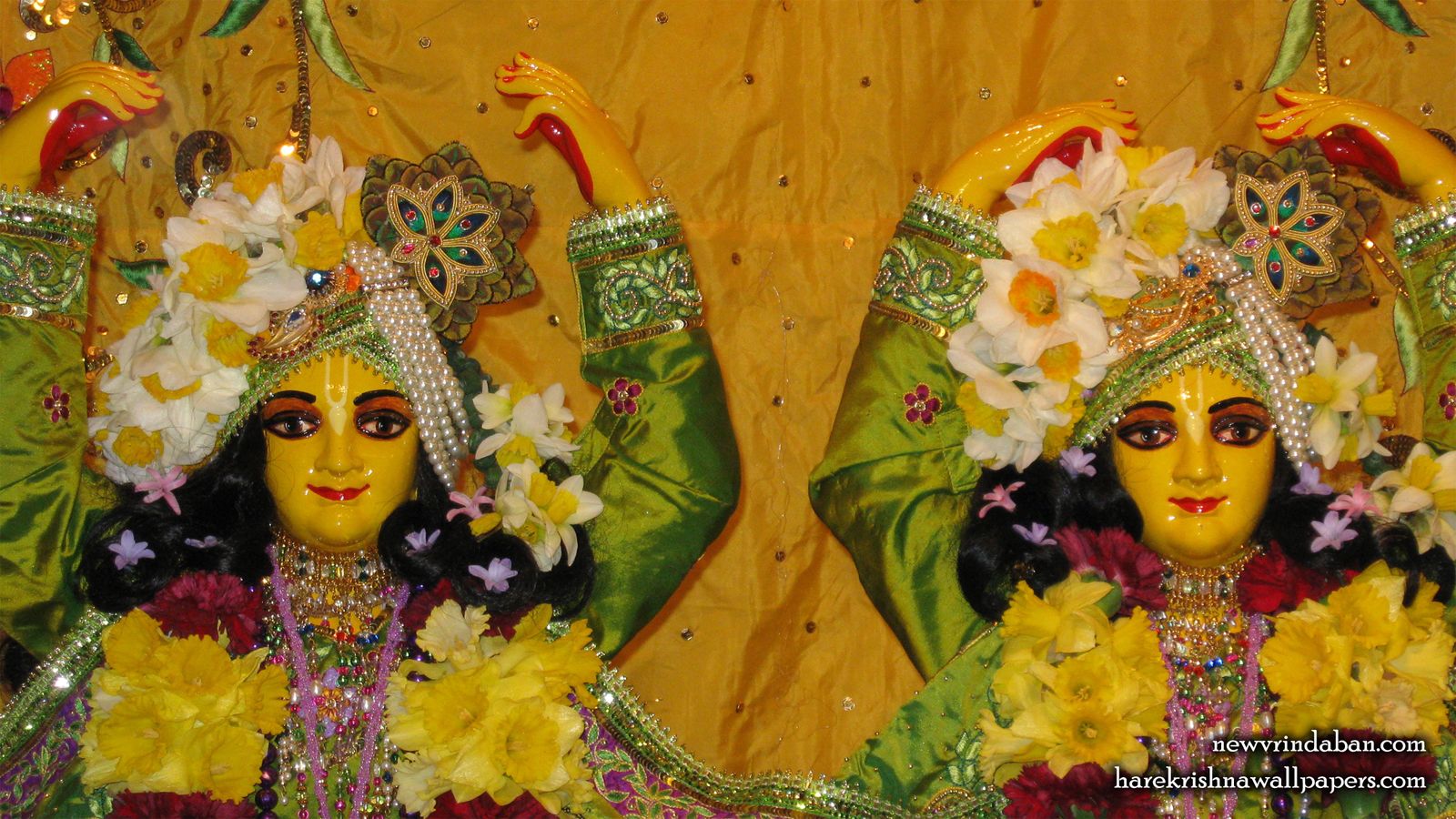 Sri Sri Gaura Nitai Close up Wallpaper (001) Size 1600x900 Download
