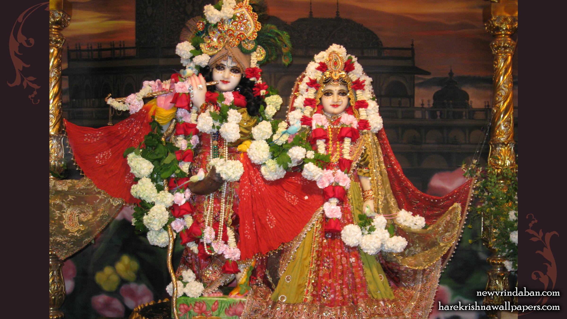 Sri Sri Radha Vrindavana Chandra Wallpaper (001) Size 2400x1350 Download