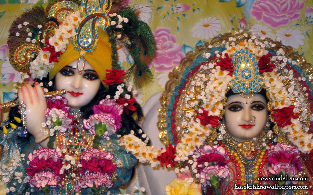 Sri Sri Radha Vrindavana Chandra Close up Wallpaper (001) Size 1280x800 Download