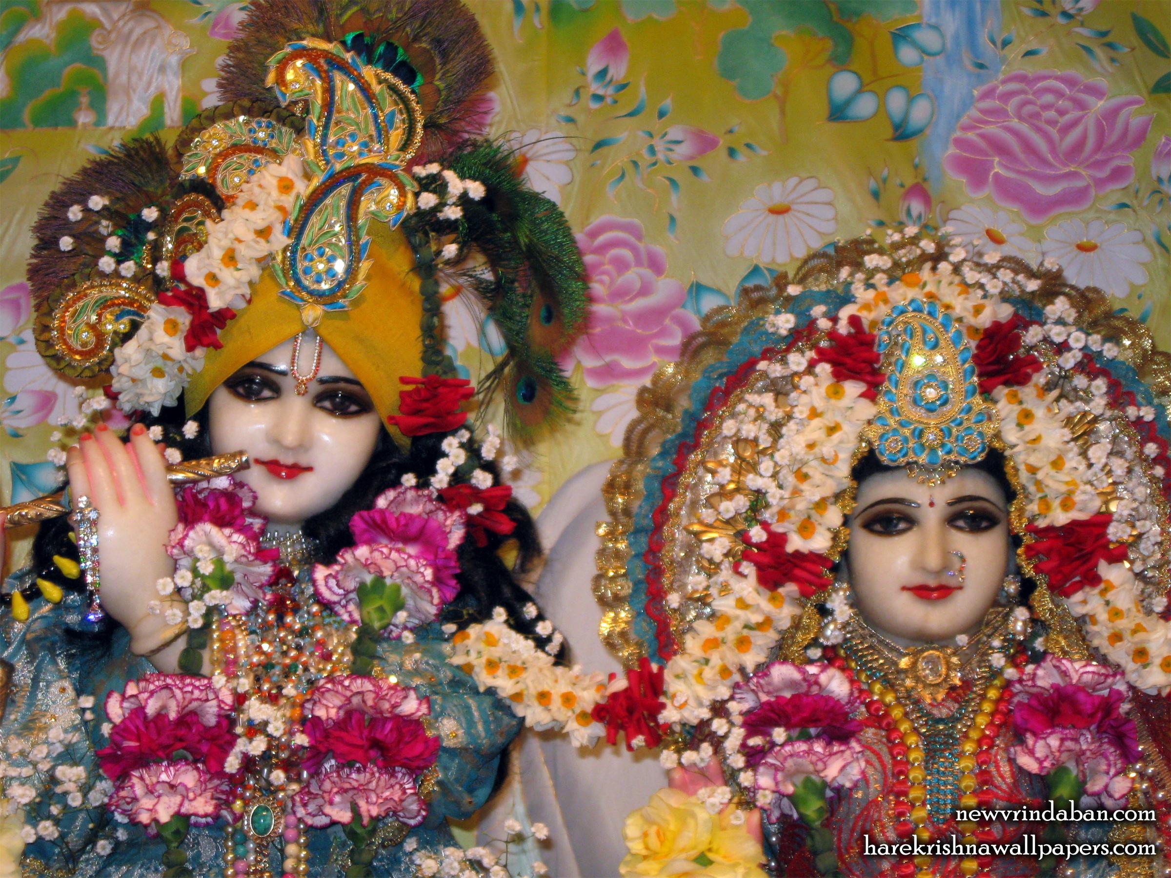 Sri Sri Radha Vrindavana Chandra Close up Wallpaper (001) Size 2400x1800 Download
