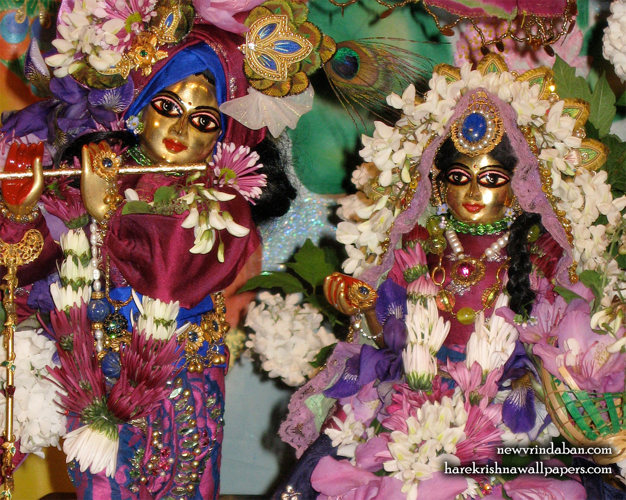 Sri Sri Radha Vrindavana Nath Close up Wallpaper (001) Size 1280x1024 Download