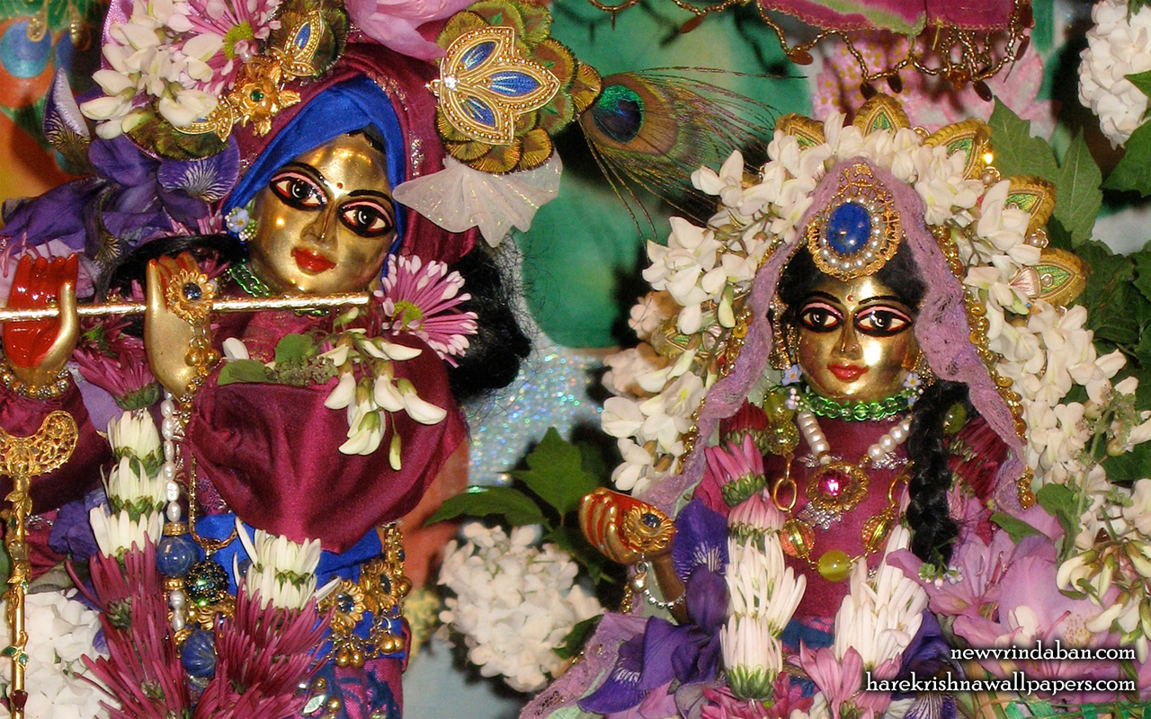 Sri Sri Radha Vrindavana Nath Close up Wallpaper (001) Size 1280x800 Download