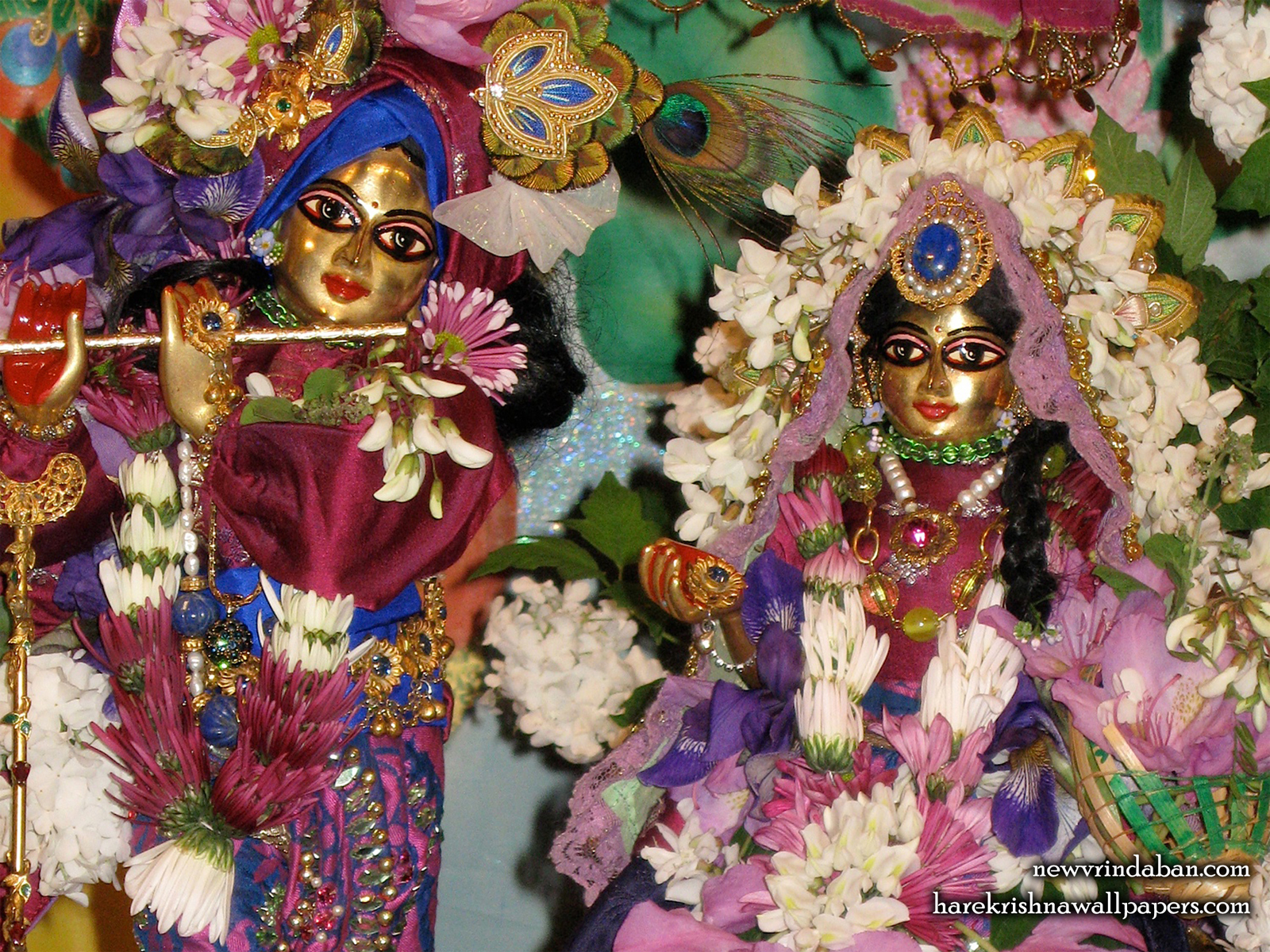 Sri Sri Radha Vrindavana Nath Close up Wallpaper (001) Size1600x1200 Download