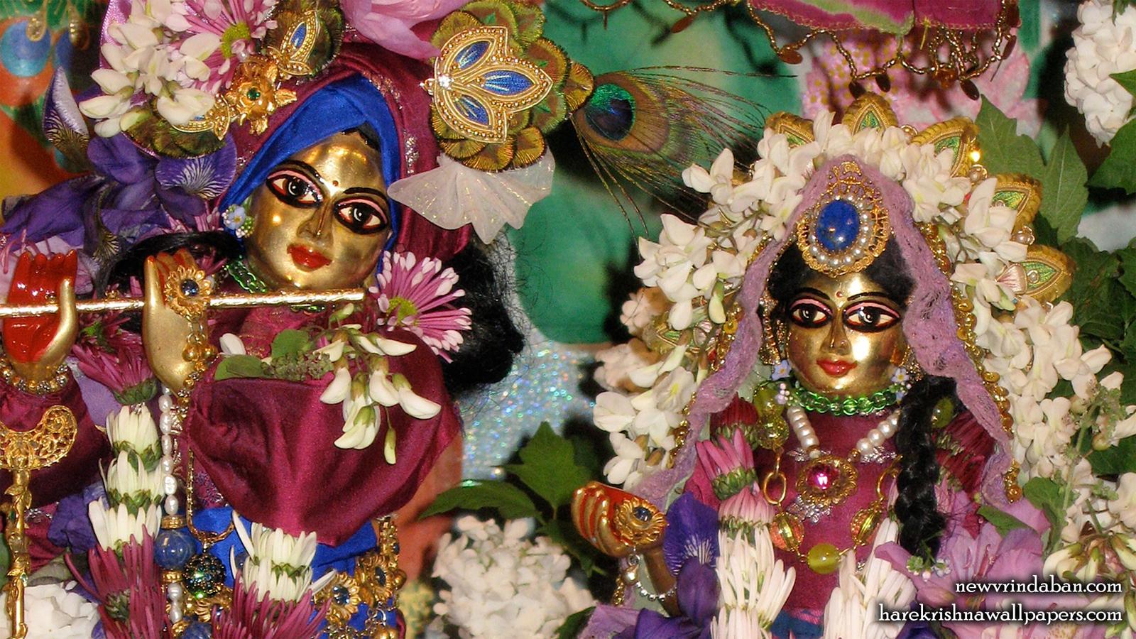 Sri Sri Radha Vrindavana Nath Close up Wallpaper (001) Size 1600x900 Download
