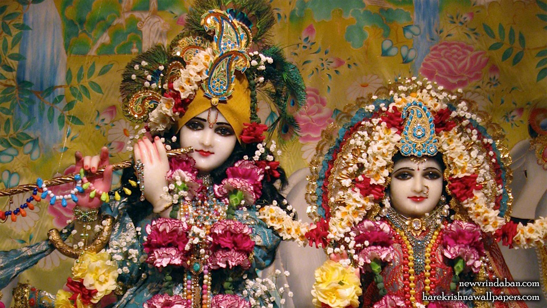 Sri Sri Radha Vrindavana Chandra Close up Wallpaper (002) Size 1920x1080 Download