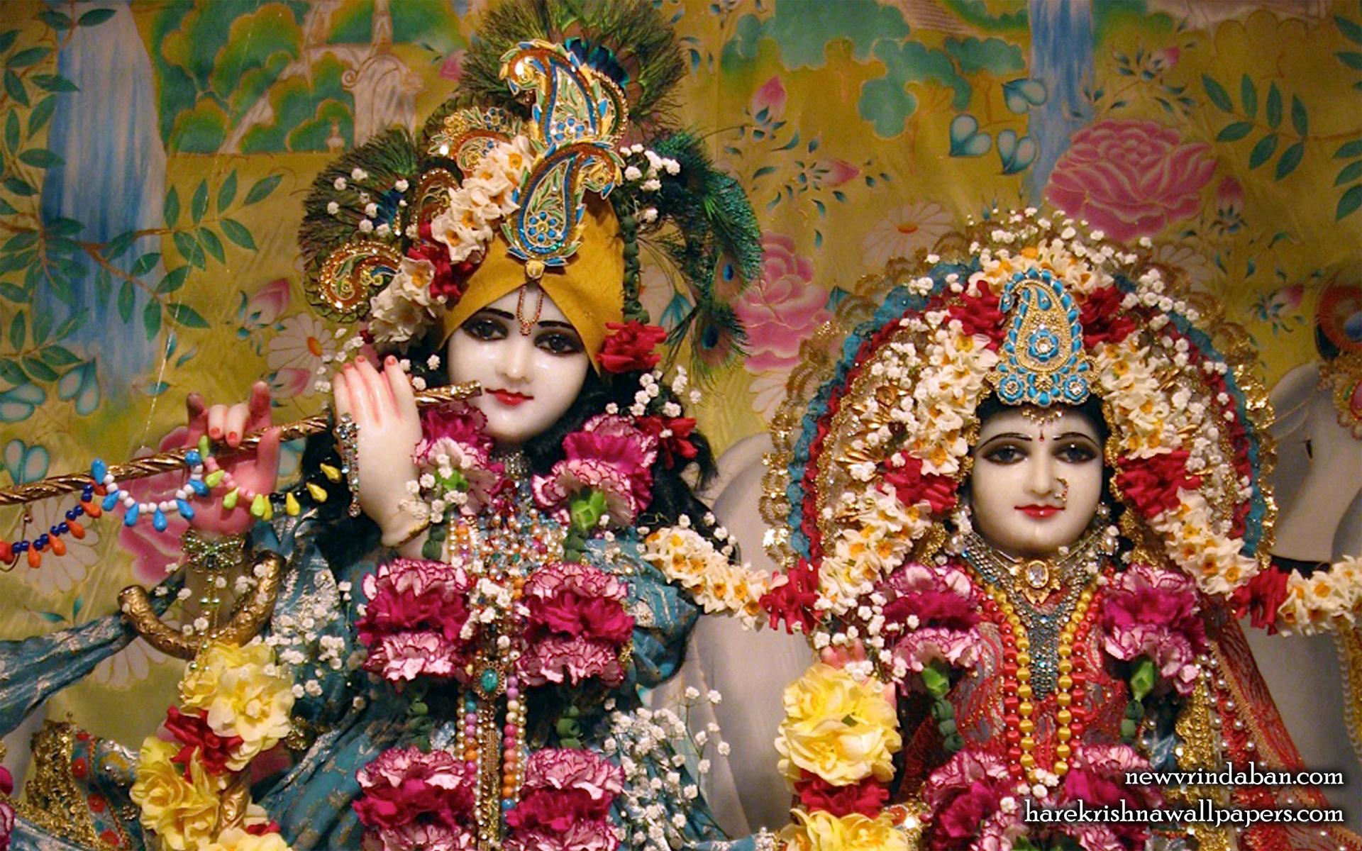 Sri Sri Radha Vrindavana Chandra Close up Wallpaper (002) Size 1920x1200 Download