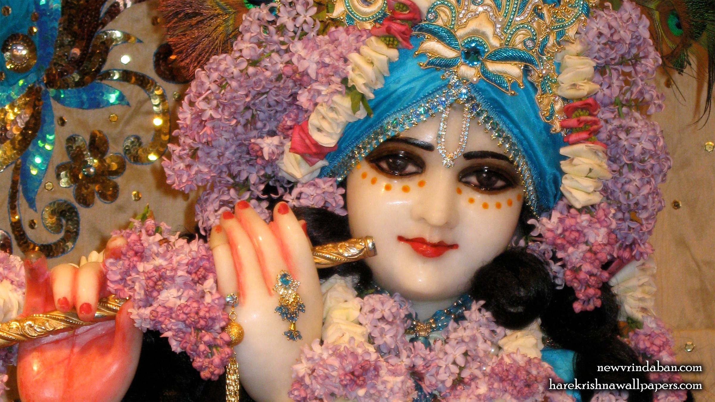 Sri Vrindavana Chandra Close up Wallpaper (002) Size 2400x1350 Download