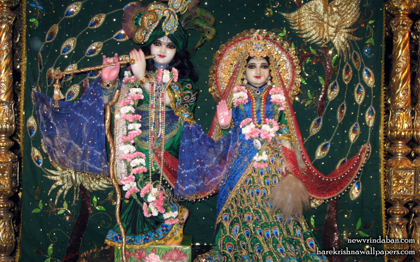 Sri Sri Radha Vrindavana Chandra Wallpaper (003) Size 1440x900 Download