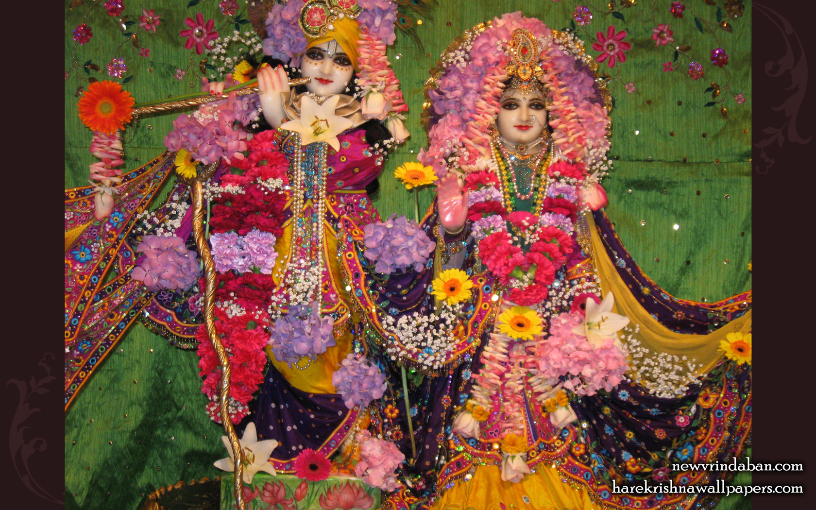 Sri Sri Radha Vrindavana Chandra Wallpaper (004) Size 1680x1050 Download