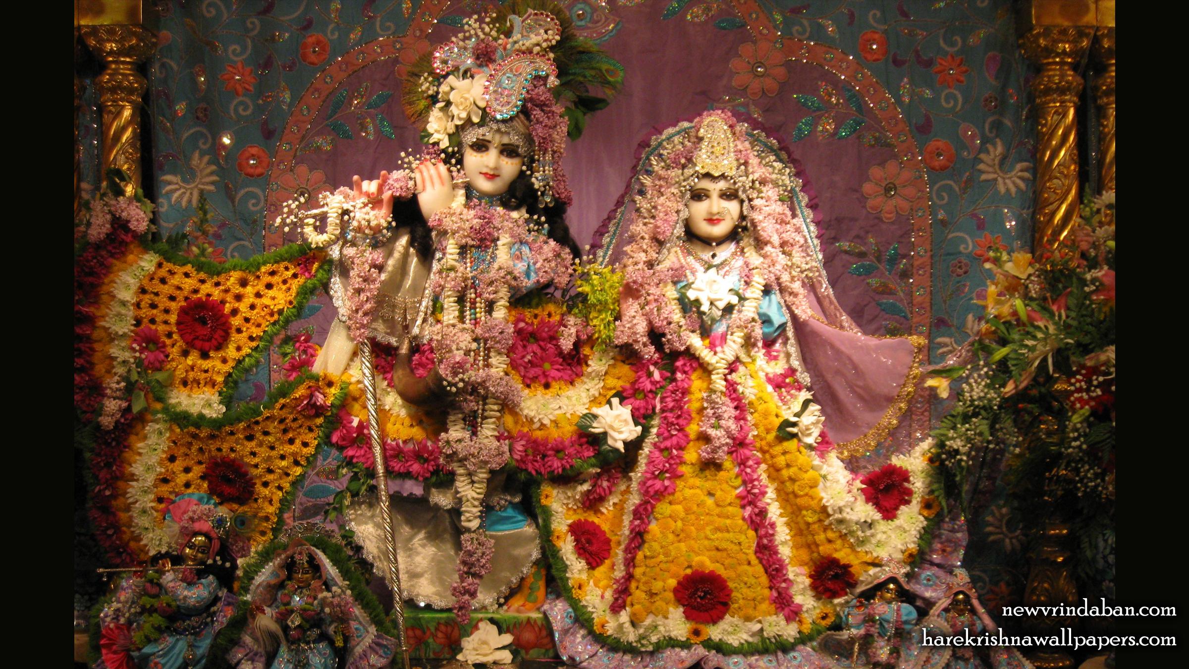 Sri Sri Radha Vrindavana Chandra Wallpaper (005) Size 2400x1350 Download