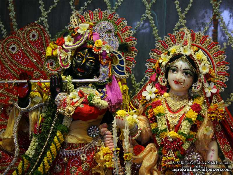 Sri Sri Radha Govind Close up Wallpaper (001)
