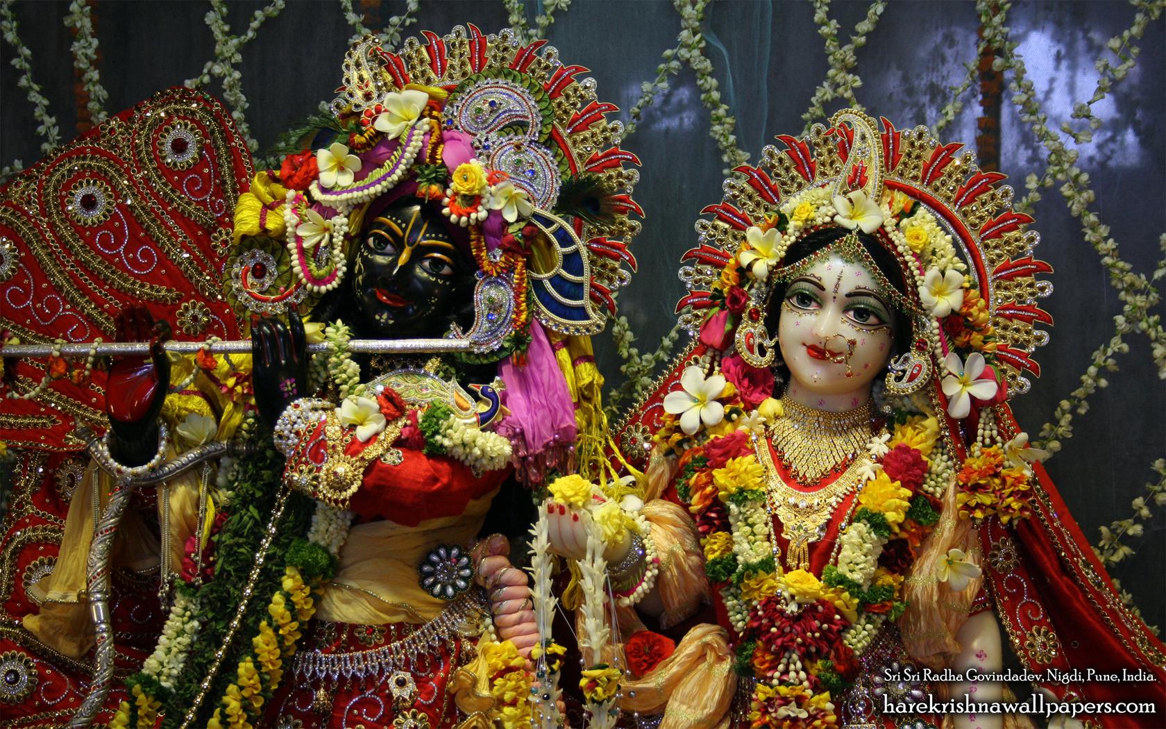 Sri Sri Radha Govind Close up Wallpaper (001) Size 1680x1050 Download