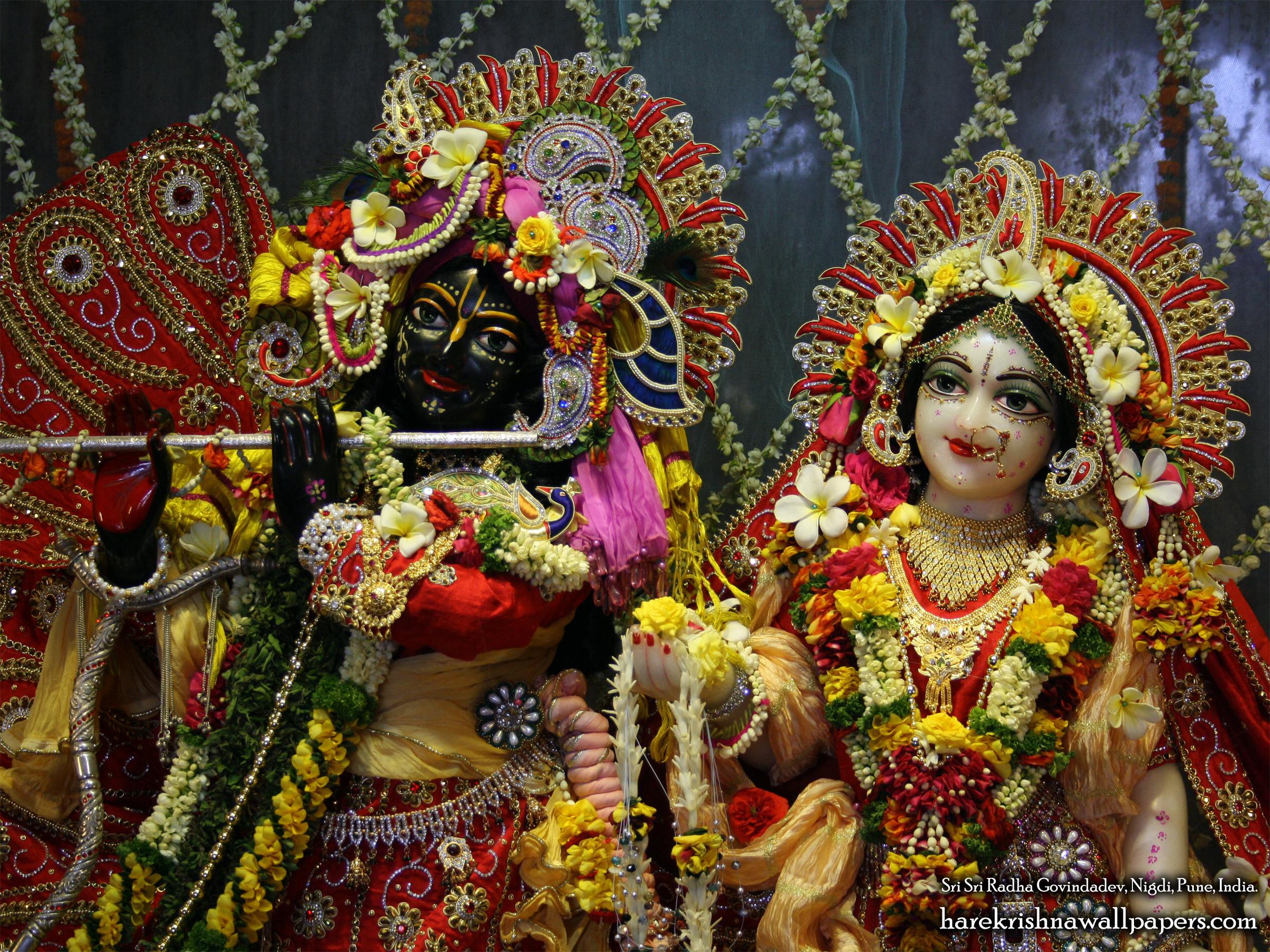 Sri Sri Radha Govind Close up Wallpaper (001) Size 2400x1800 Download