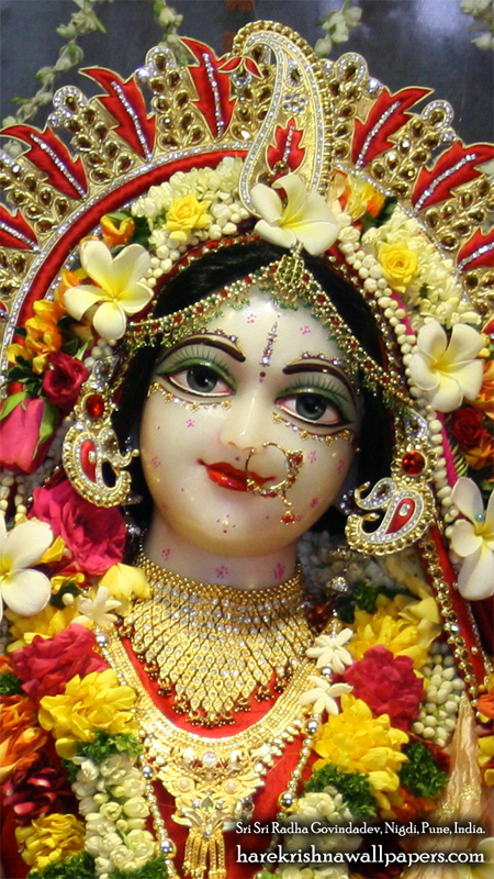 Sri Radha Close up Wallpaper (002) Size 450x800 Download