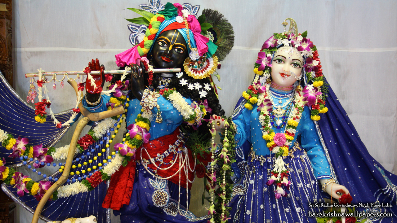 Sri Sri Radha Govind Close up Wallpaper (002) Size 1280x720 Download
