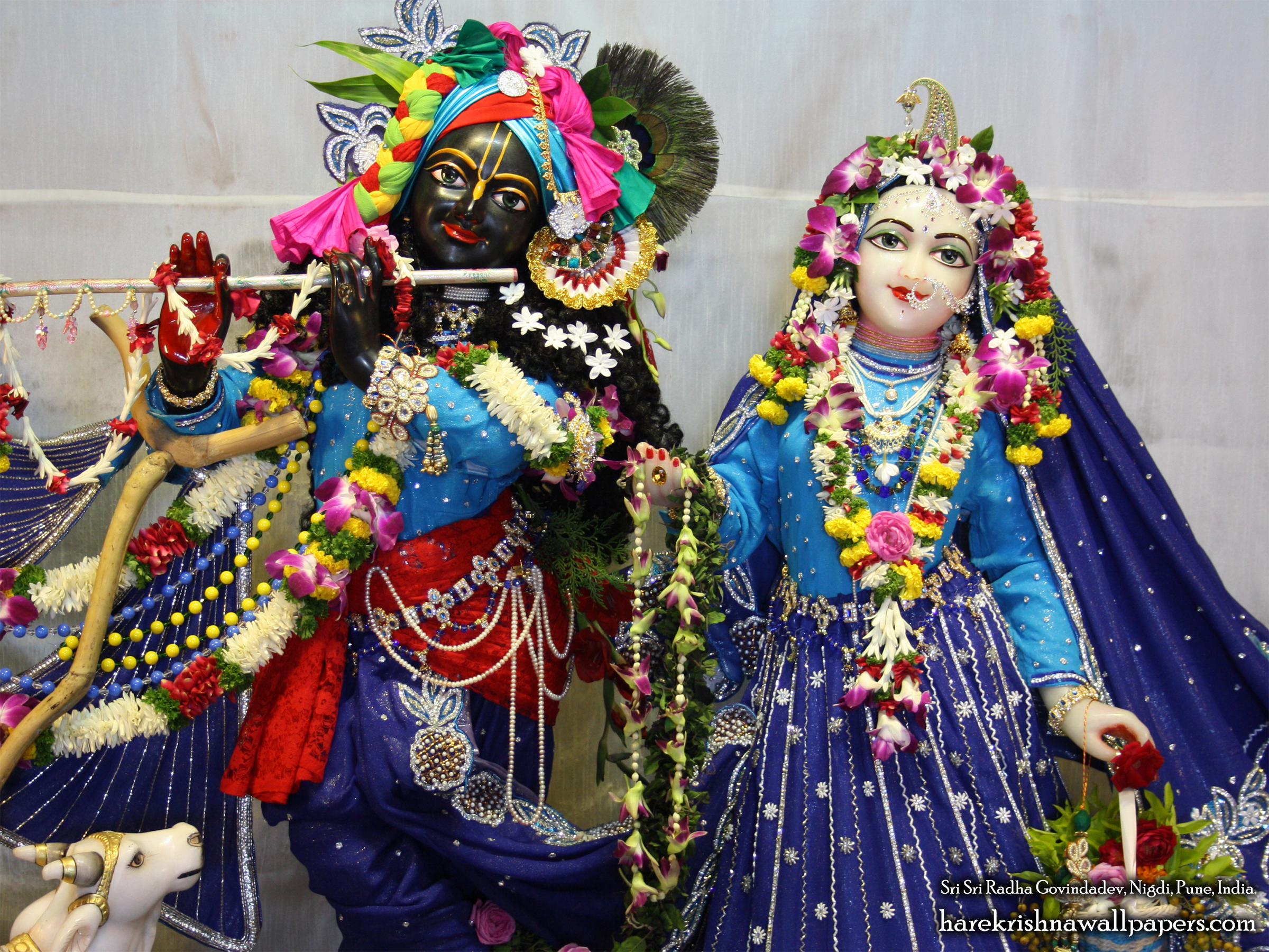 Sri Sri Radha Govind Close up Wallpaper (002) Size 2400x1800 Download