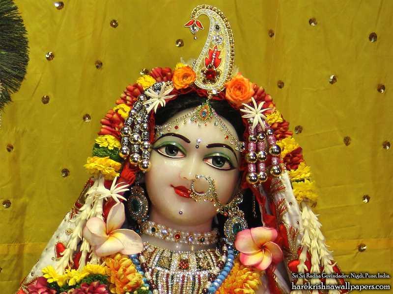 Sri Radha Close up Wallpaper (003)
