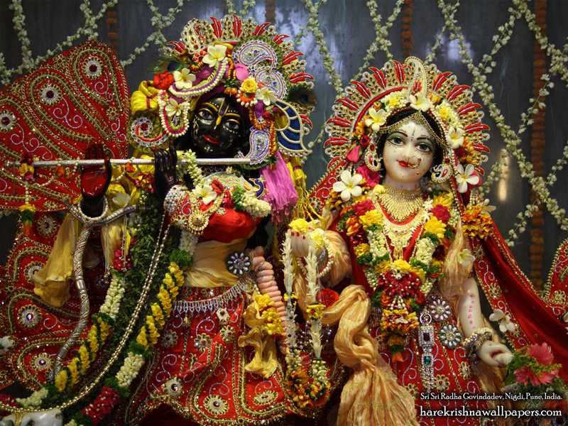 Sri Sri Radha Govind Close up Wallpaper (003)