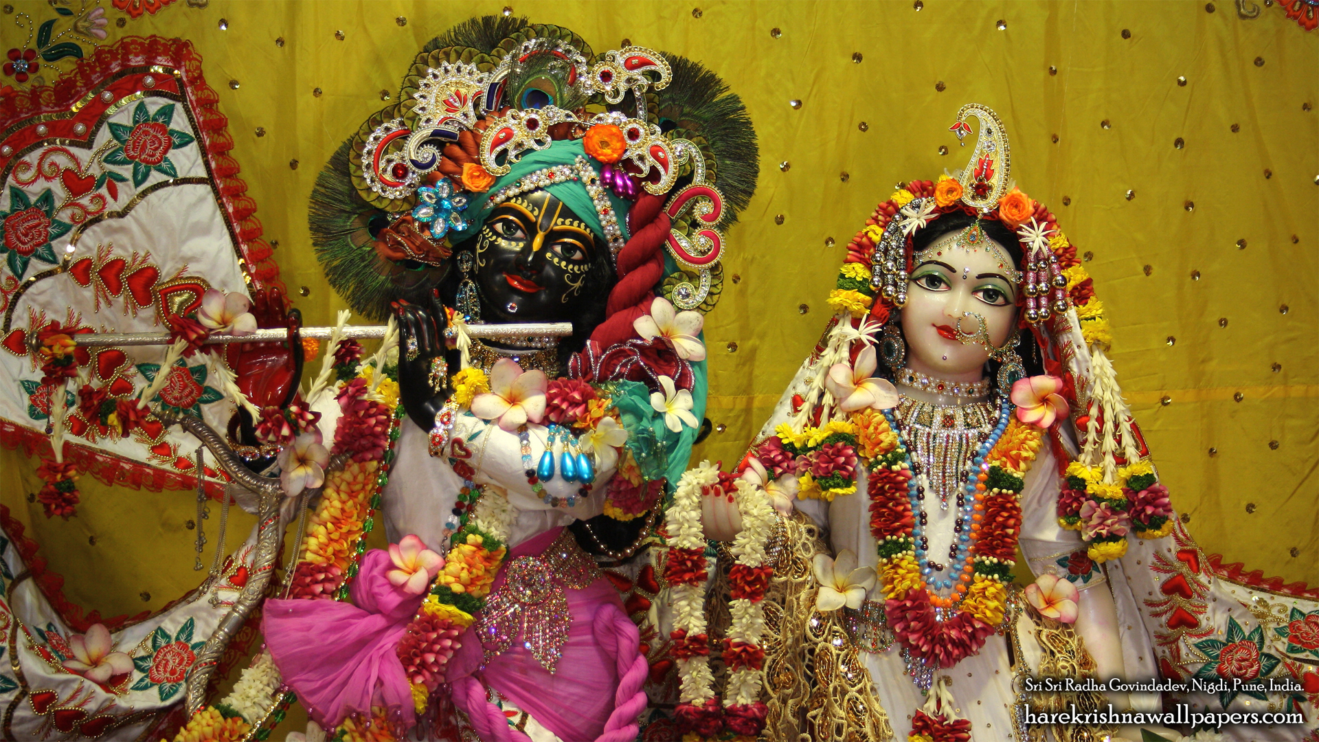 Sri Sri Radha Govind Close up Wallpaper (004) Size 1920x1080 Download