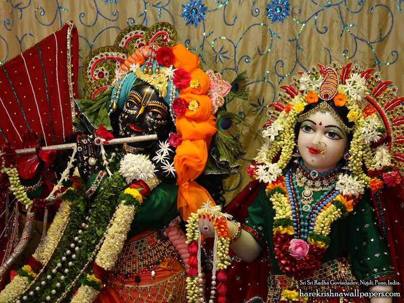 Sri Sri Radha Govind Close up Wallpaper (005)