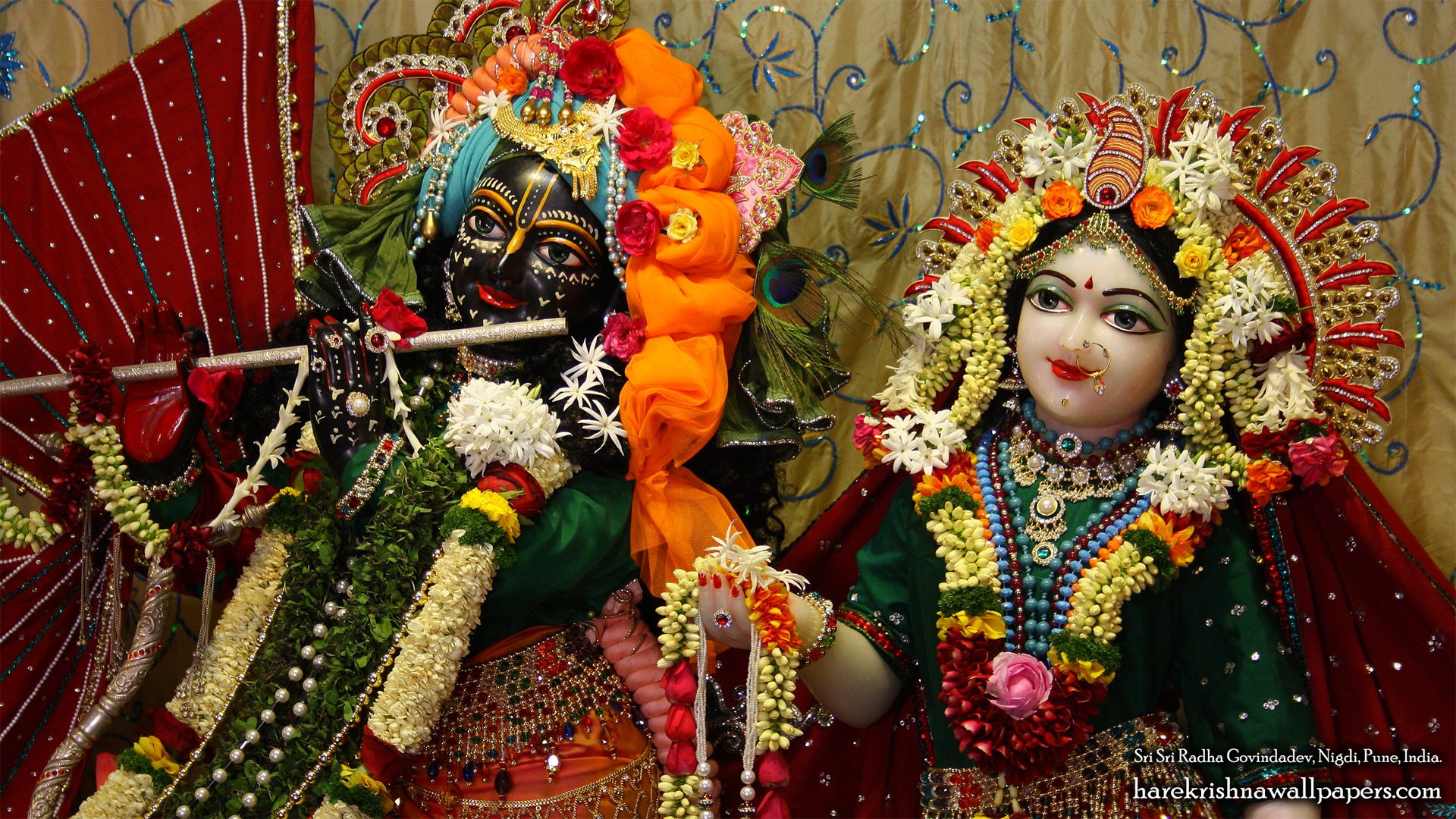 Sri Sri Radha Govind Close up Wallpaper (005) Size 1920x1080 Download