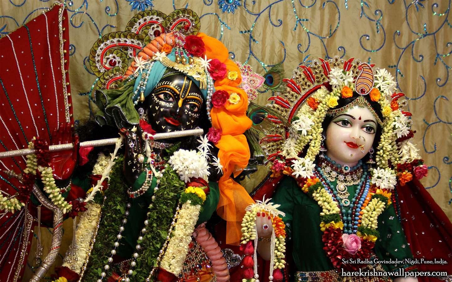 Sri Sri Radha Govind Close up Wallpaper (006) Size 1440x900 Download