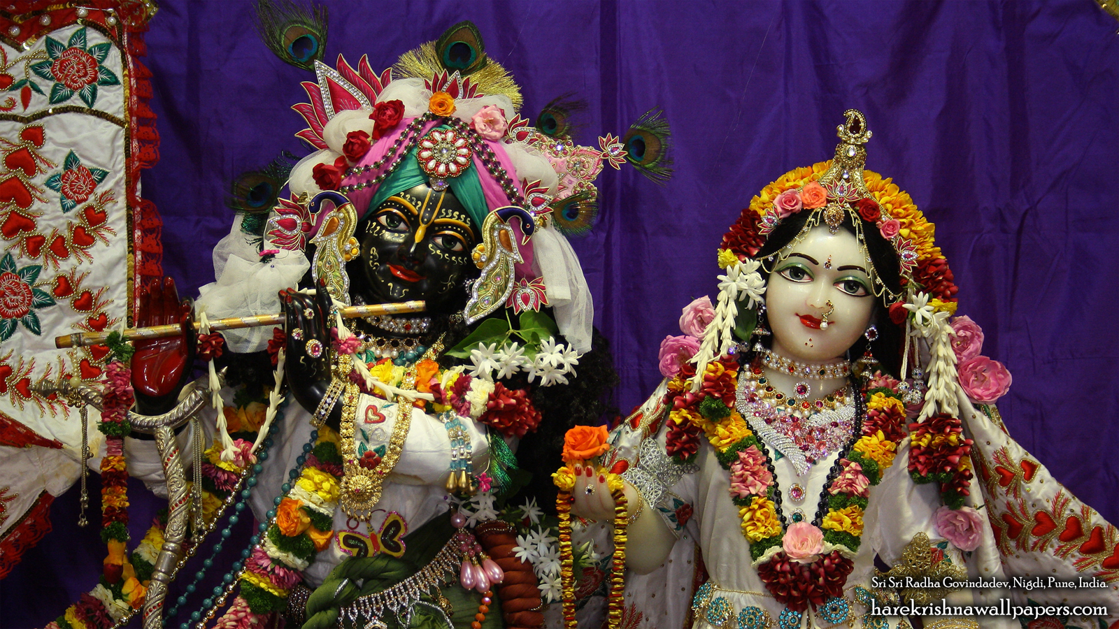 Sri Sri Radha Govind Close up Wallpaper (007) Size 1600x900 Download