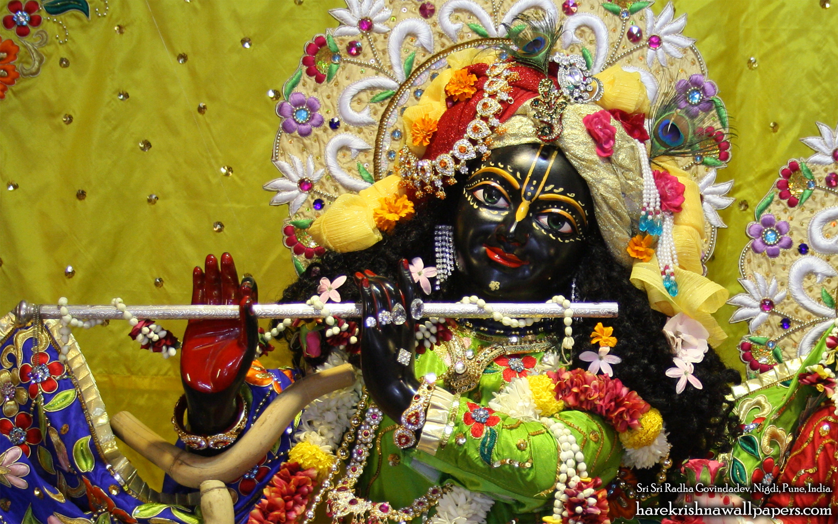 Sri Govind Close up Wallpaper (008) Size 1680x1050 Download