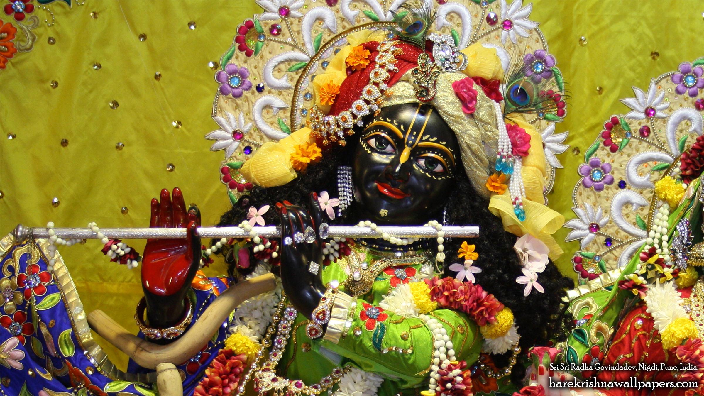 Sri Govind Close up Wallpaper (008) Size 2400x1350 Download