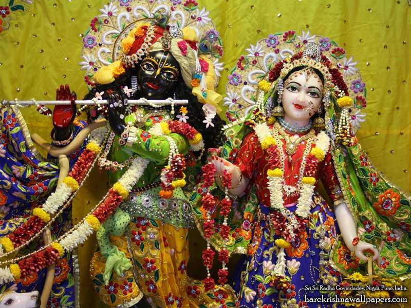 Sri Sri Radha Govind Close up Wallpaper (008)