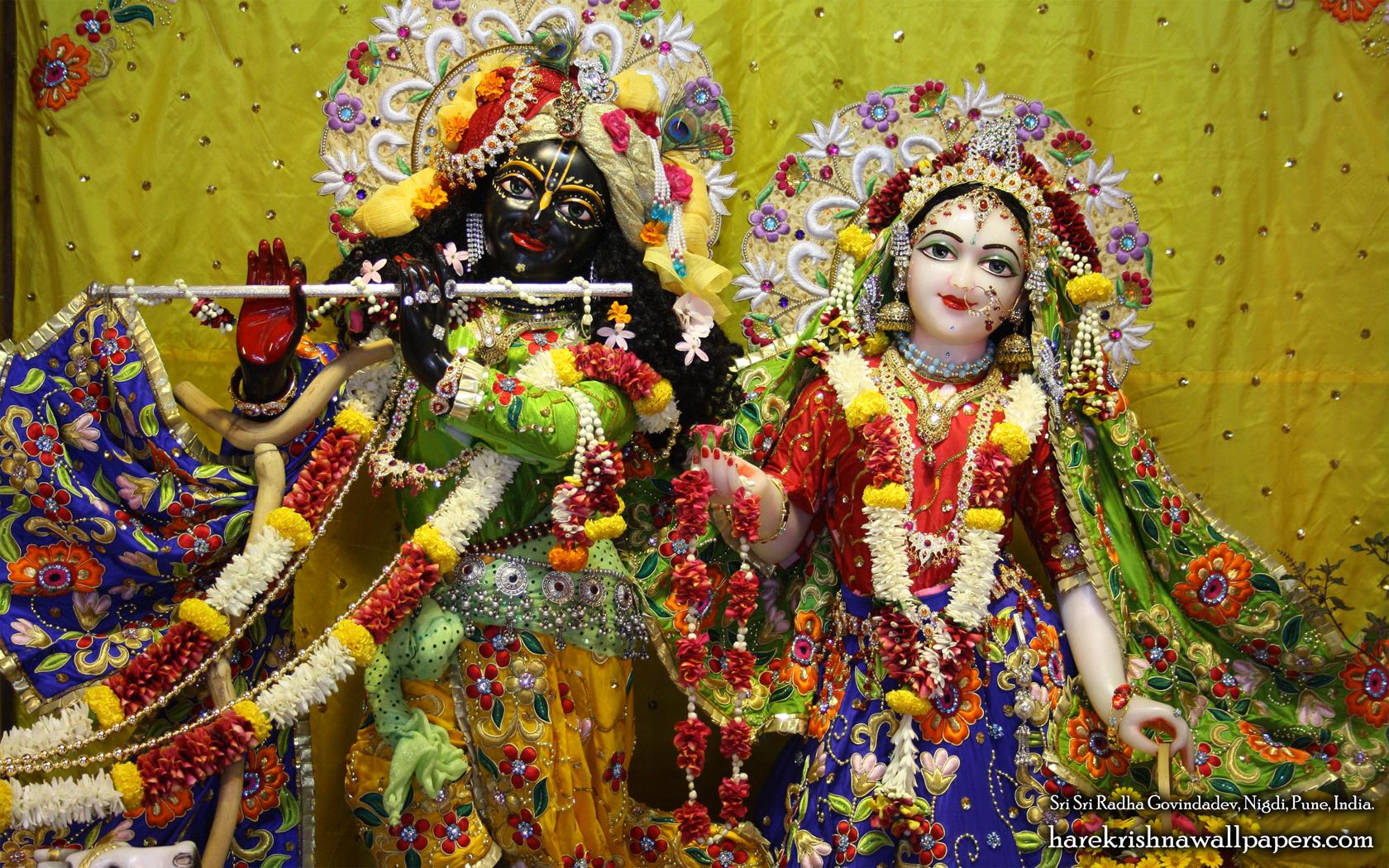 Sri Sri Radha Govind Close up Wallpaper (008) Size 1680x1050 Download