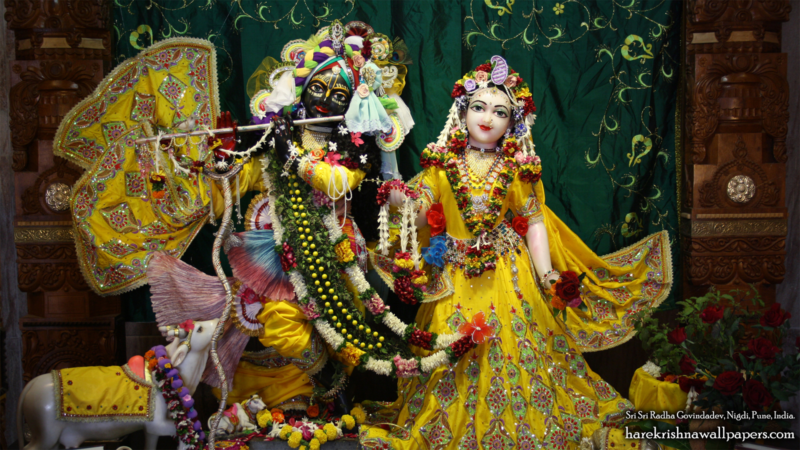 Sri Sri Radha Govind Wallpaper (009) Size 1600x900 Download