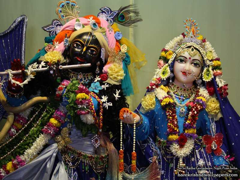 Sri Sri Radha Govind Close up Wallpaper (009)