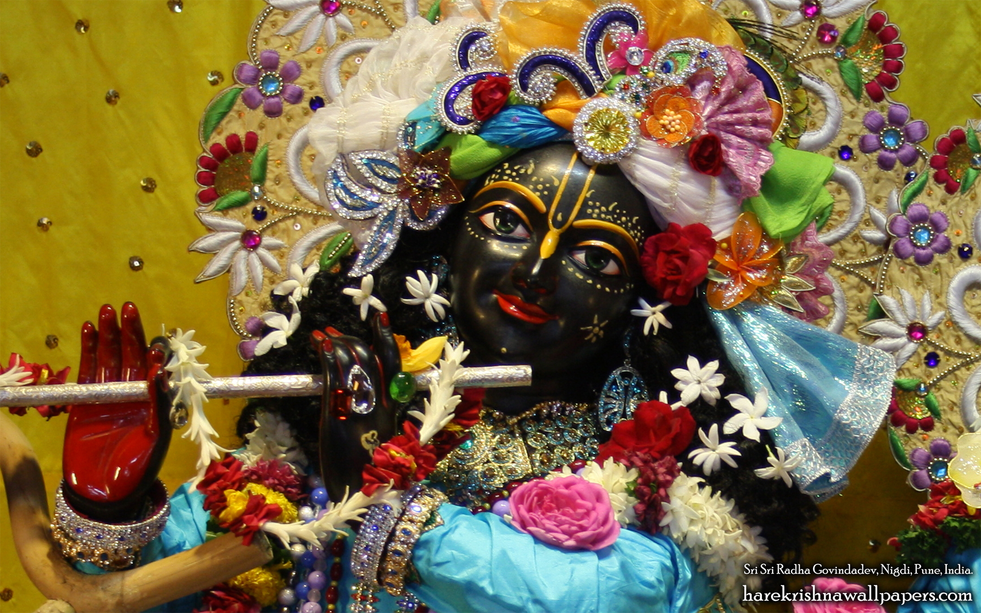 Sri Govind Close up Wallpaper (010) Size 1920x1200 Download