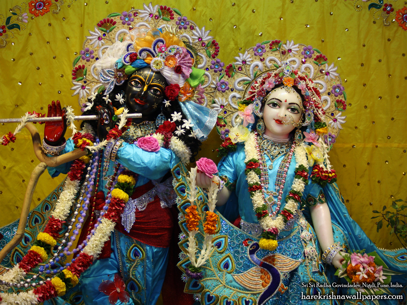 Sri Sri Radha Govind Close up Wallpaper (010) Size 1400x1050 Download