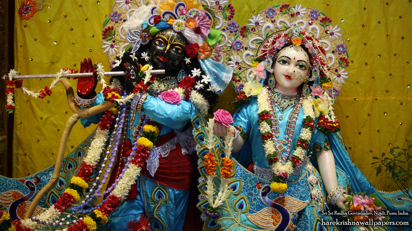 Sri Sri Radha Govind Close up Wallpaper (010) Size 1600x900 Download