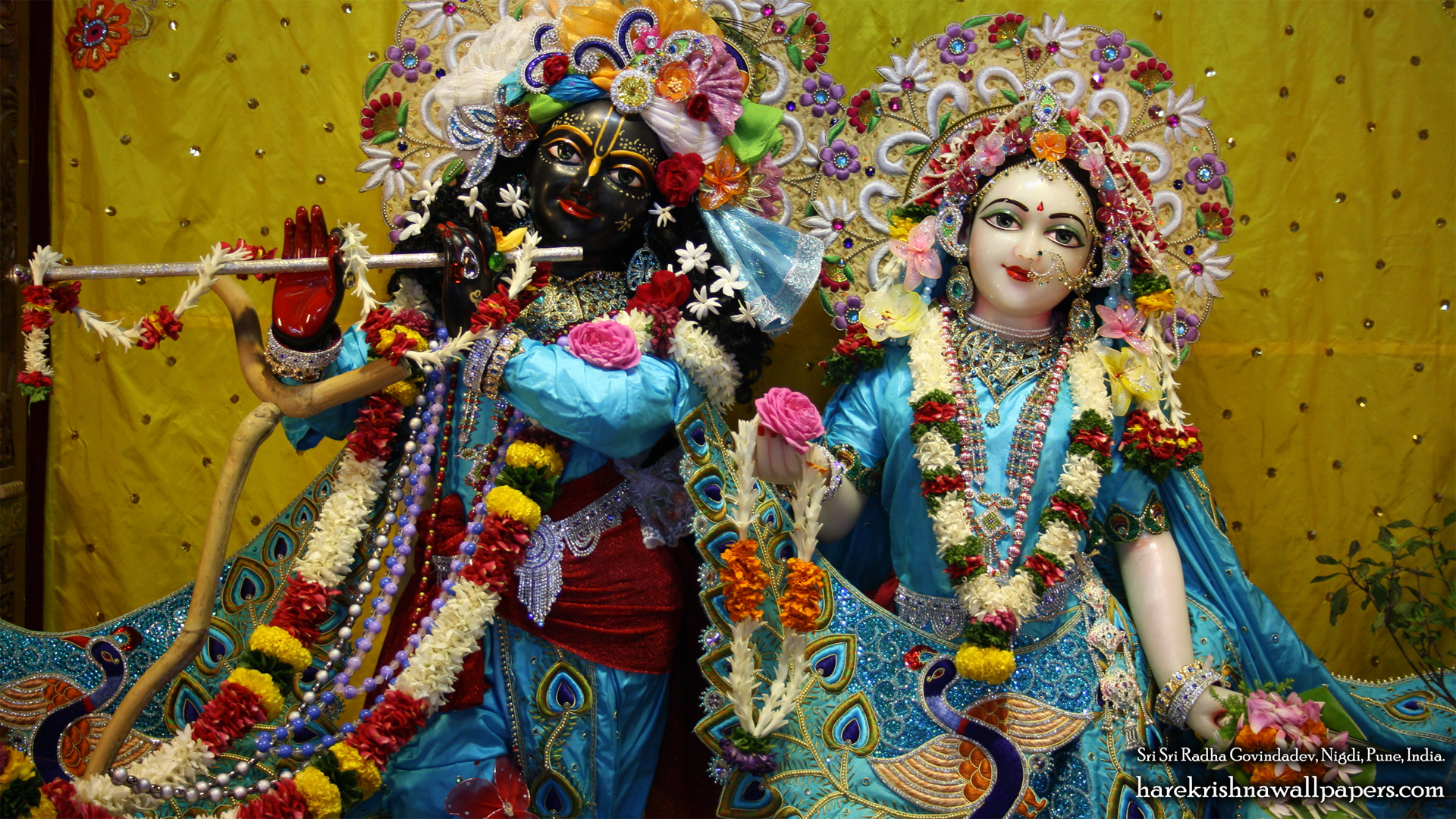 Sri Sri Radha Govind Close up Wallpaper (010) Size 1920x1080 Download