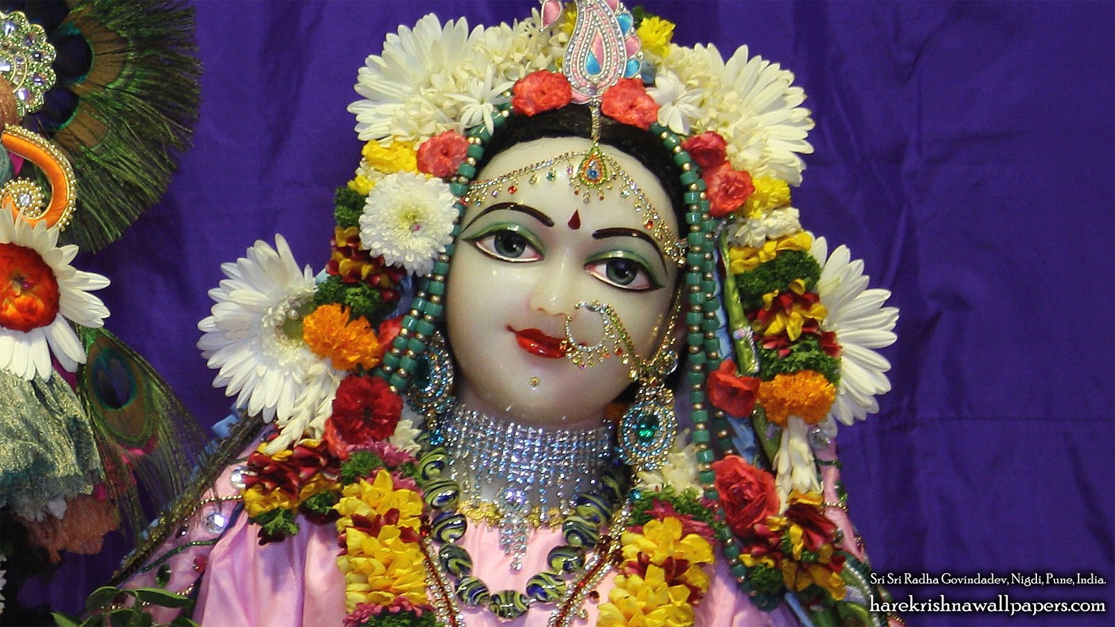 Sri Radha Close up Wallpaper (011) Size 1600x900 Download
