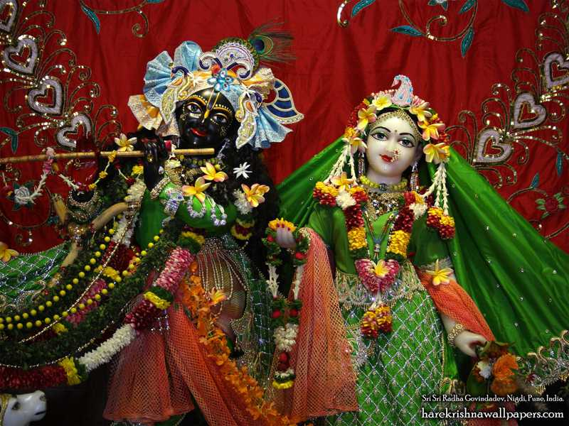Sri Sri Radha Govind Close up Wallpaper (011)