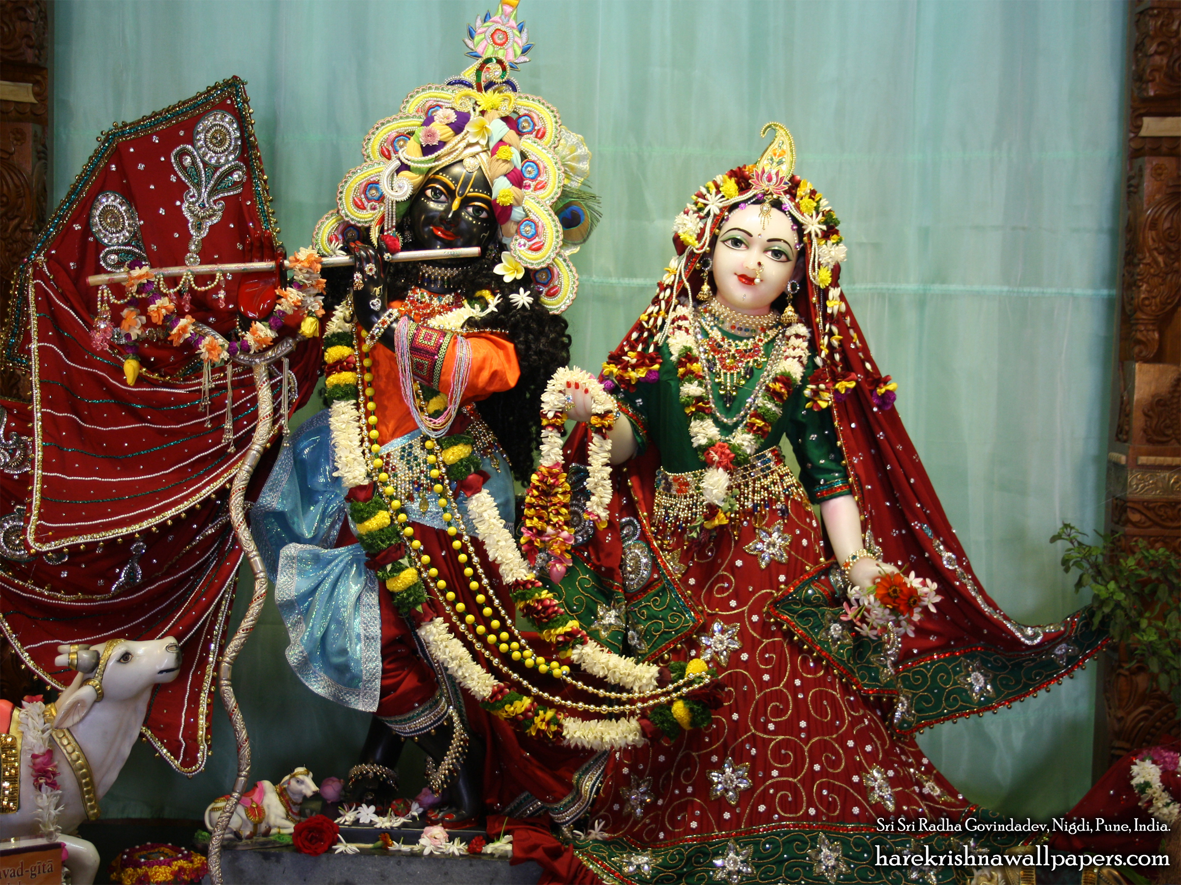 Sri Sri Radha Govind Wallpaper (012) Size 2400x1800 Download