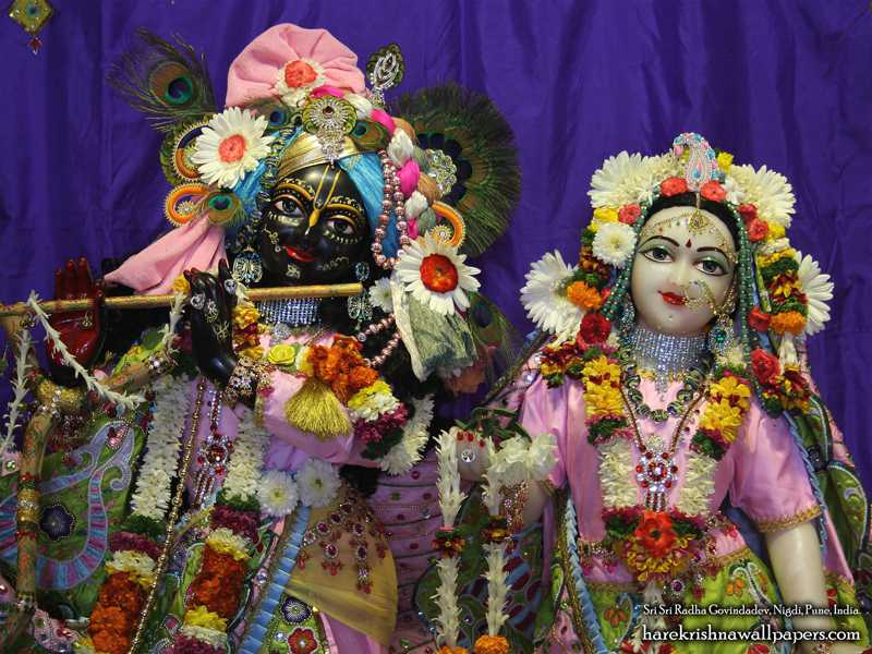 Sri Sri Radha Govind Close up Wallpaper (012)